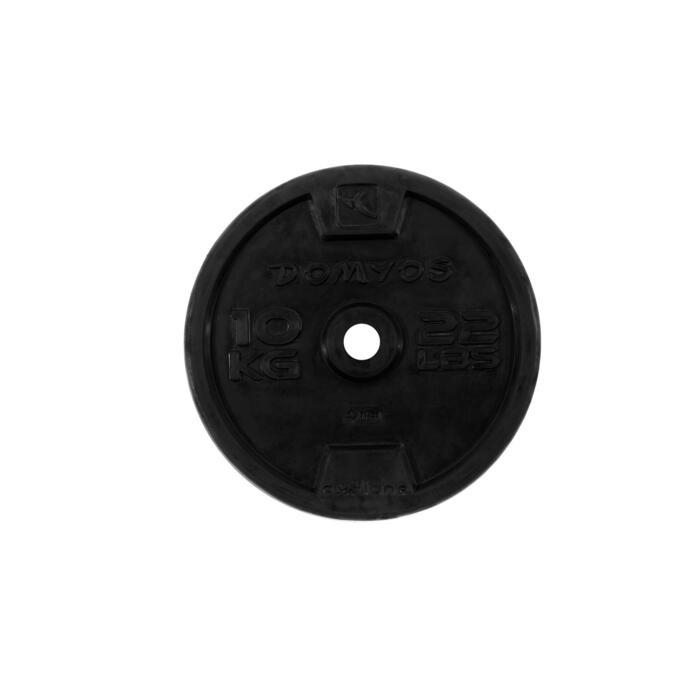 Disque caoutchouc de musculation 28 mm - 110077