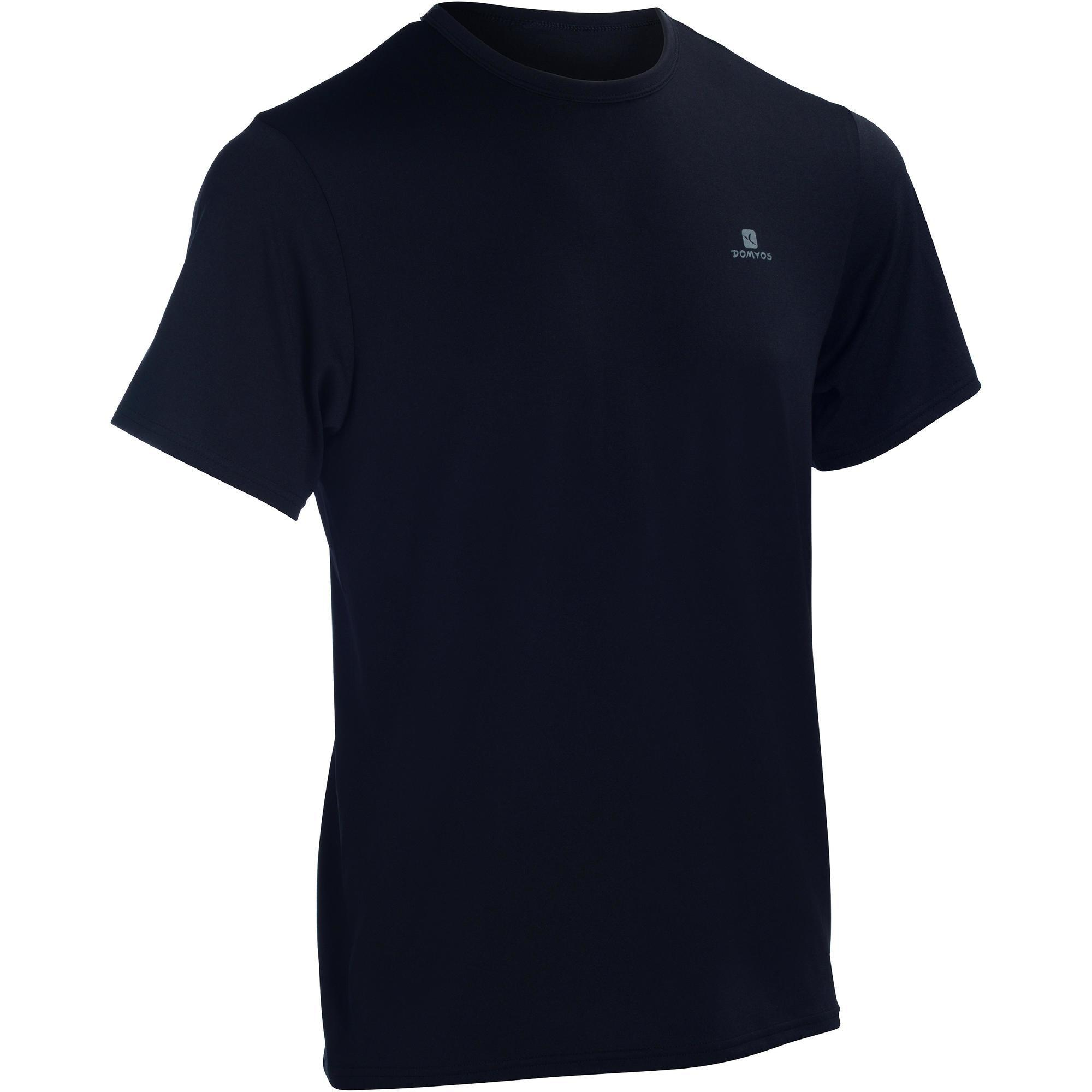 t shirt uomo cardio fitness energy nera domyos by decathlon. Black Bedroom Furniture Sets. Home Design Ideas