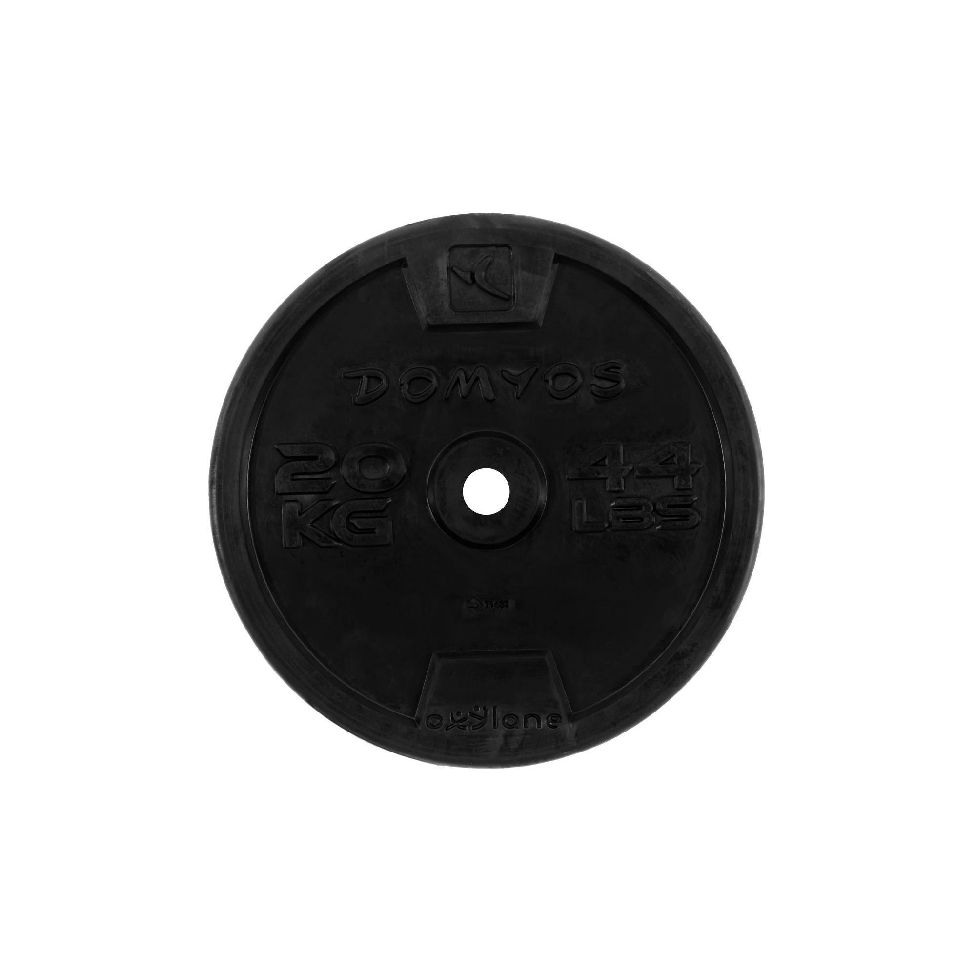 disque caoutchouc de musculation 28 mm domyos by decathlon. Black Bedroom Furniture Sets. Home Design Ideas