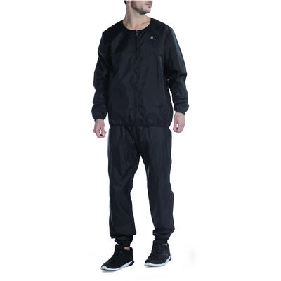 Women's Cardio Fitness Sweatsuit - Black