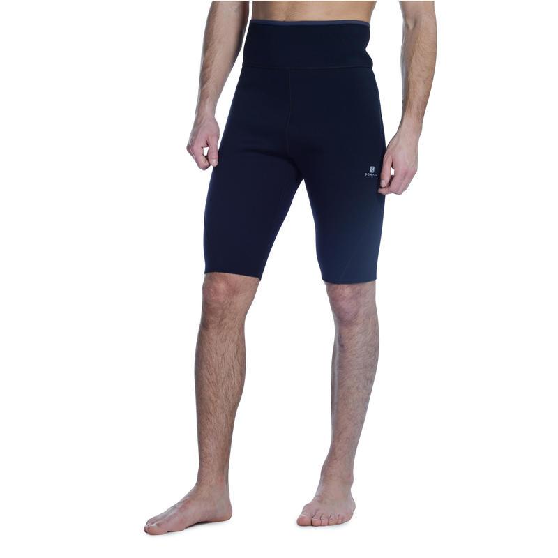 Short de sudoración fitness cardio negro hombre