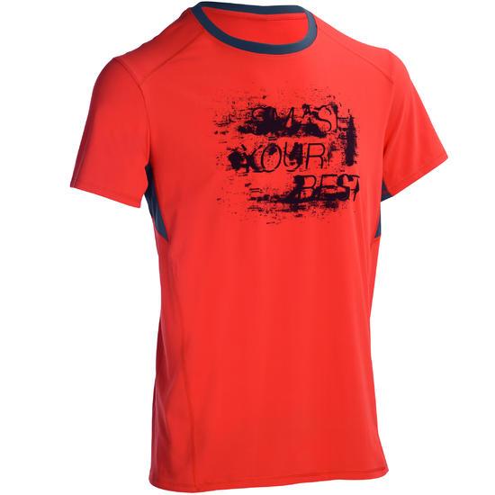 T-shirt fitness cardio heren geel met opdruk ENERGY - 1100929