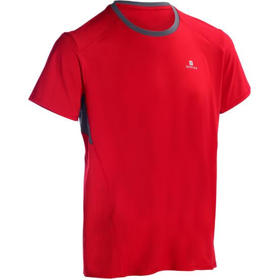 T-shirt fitness cardio heren geel met opdruk ENERGY - 1100945