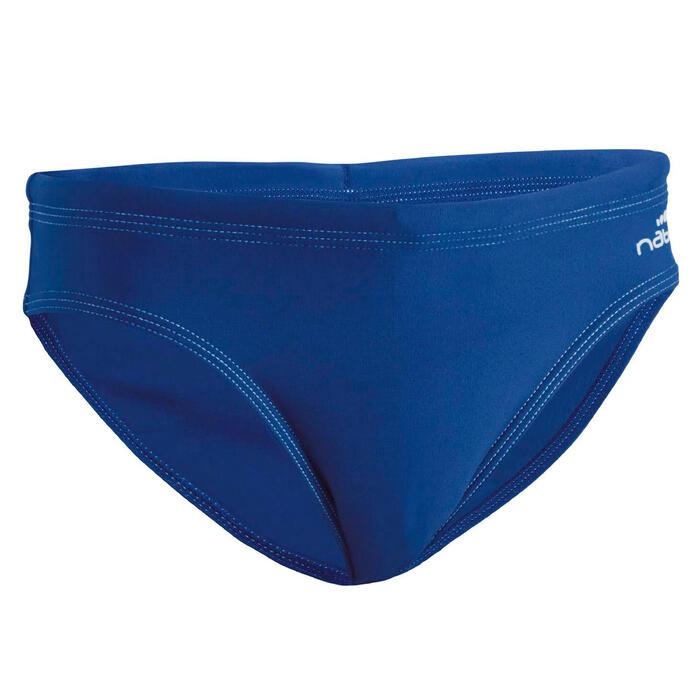 Badehose Slip 100 Basic Jungen blau