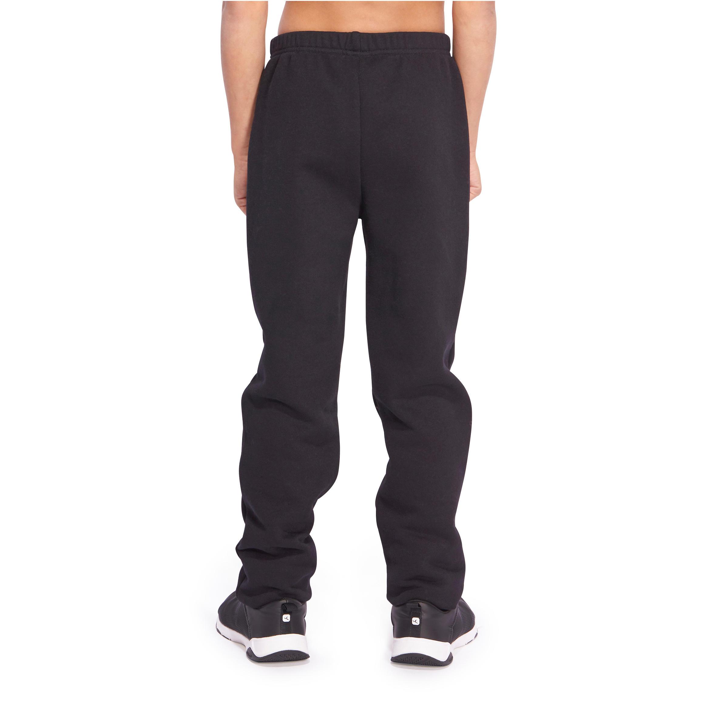 Warm'y Boys' Warm Regular-Fit Gym Bottoms - Black