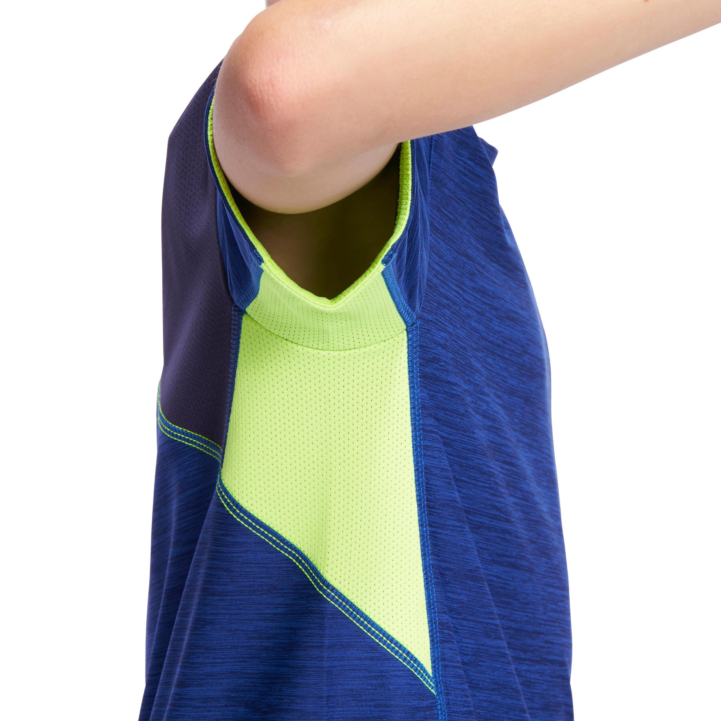 Energy Boys' Short-Sleeved Gym T-Shirt - Blue/Yellow