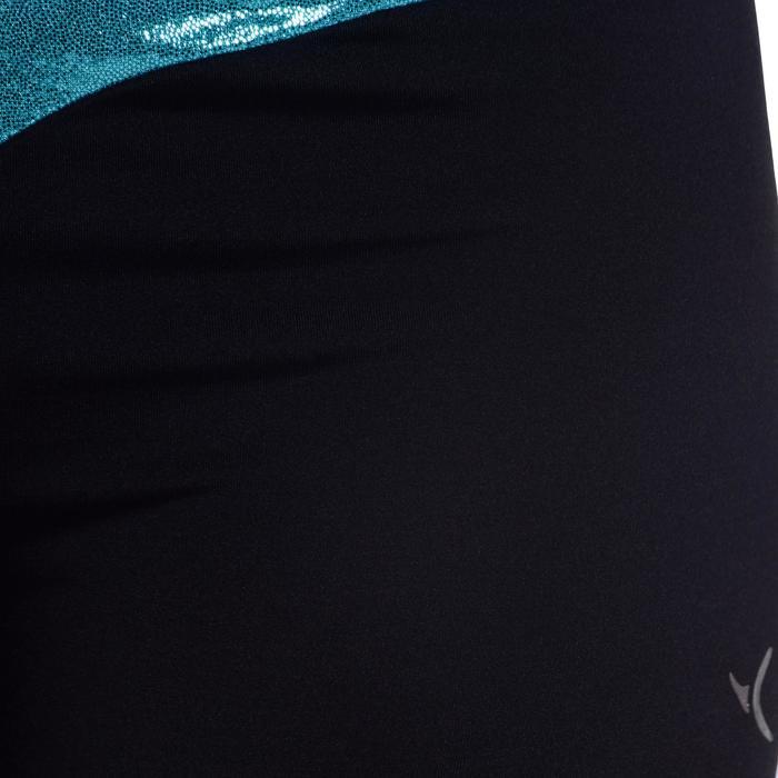 Shorty Gymnastique Féminine (GAF et GR) paillettes noir/turquoise. - 1101156