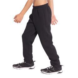 Warme molton gymbroek voor jongens 100 slim fit zwart