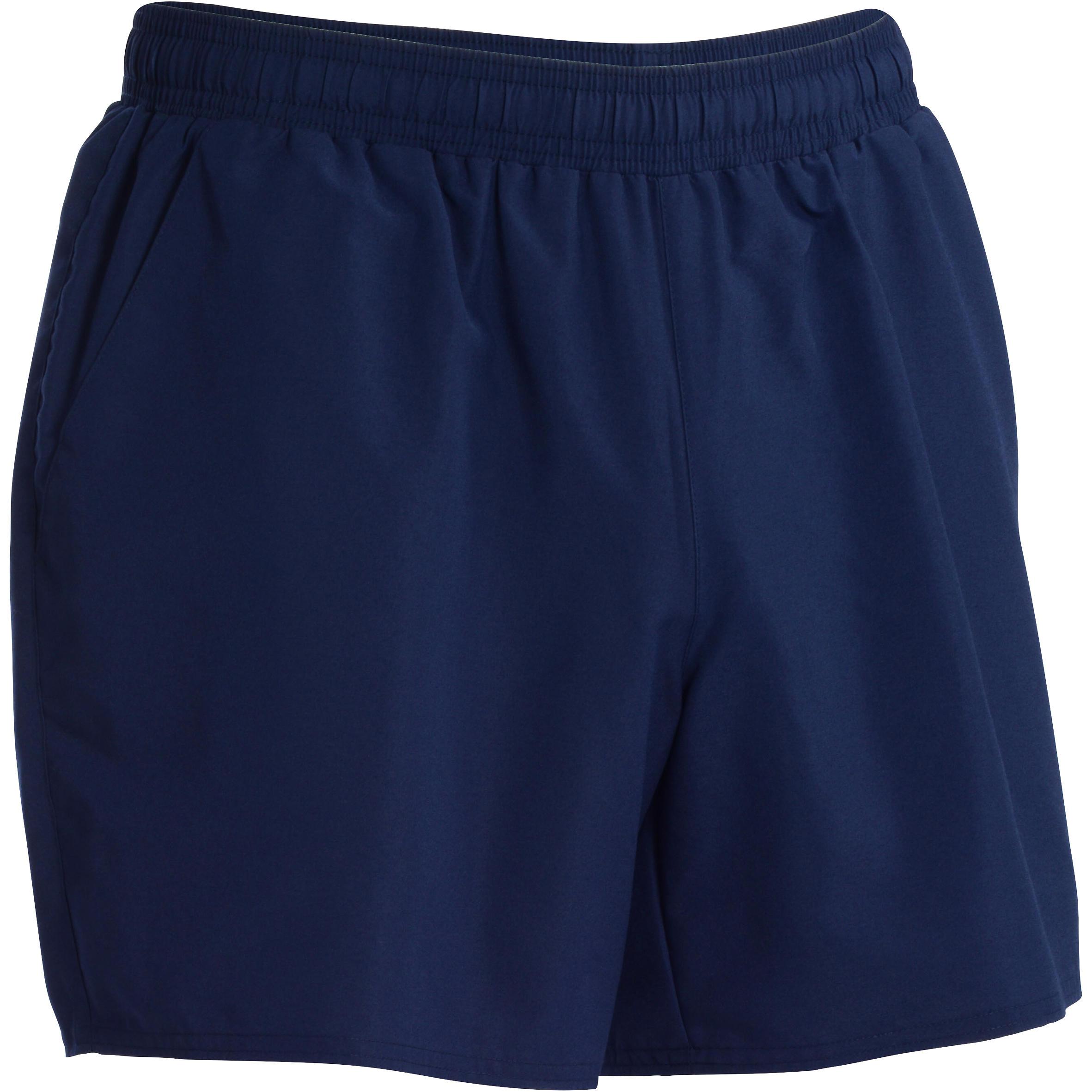 Short de fitness cardio para hombre azul marino FST100