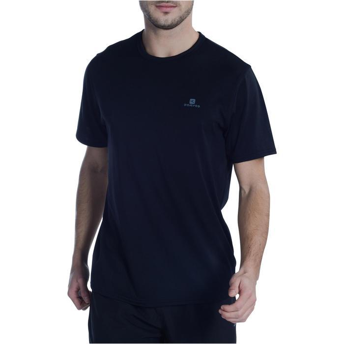 Fitness shirt FTS100 voor heren, zwart