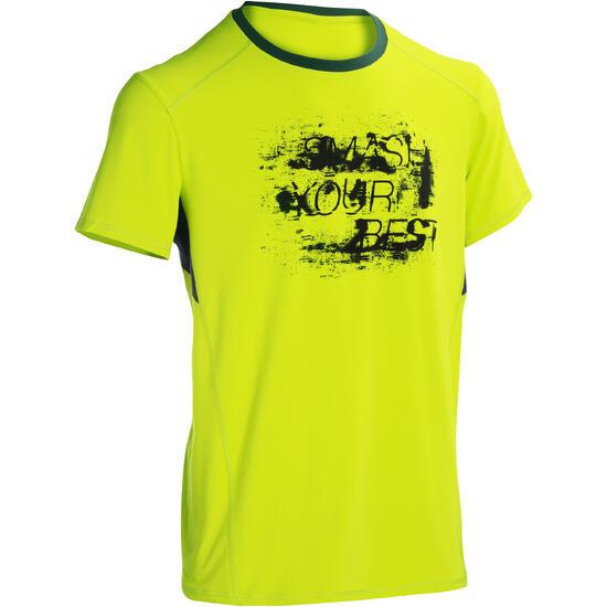 T-shirt fitness cardio heren geel met opdruk ENERGY - 1101364