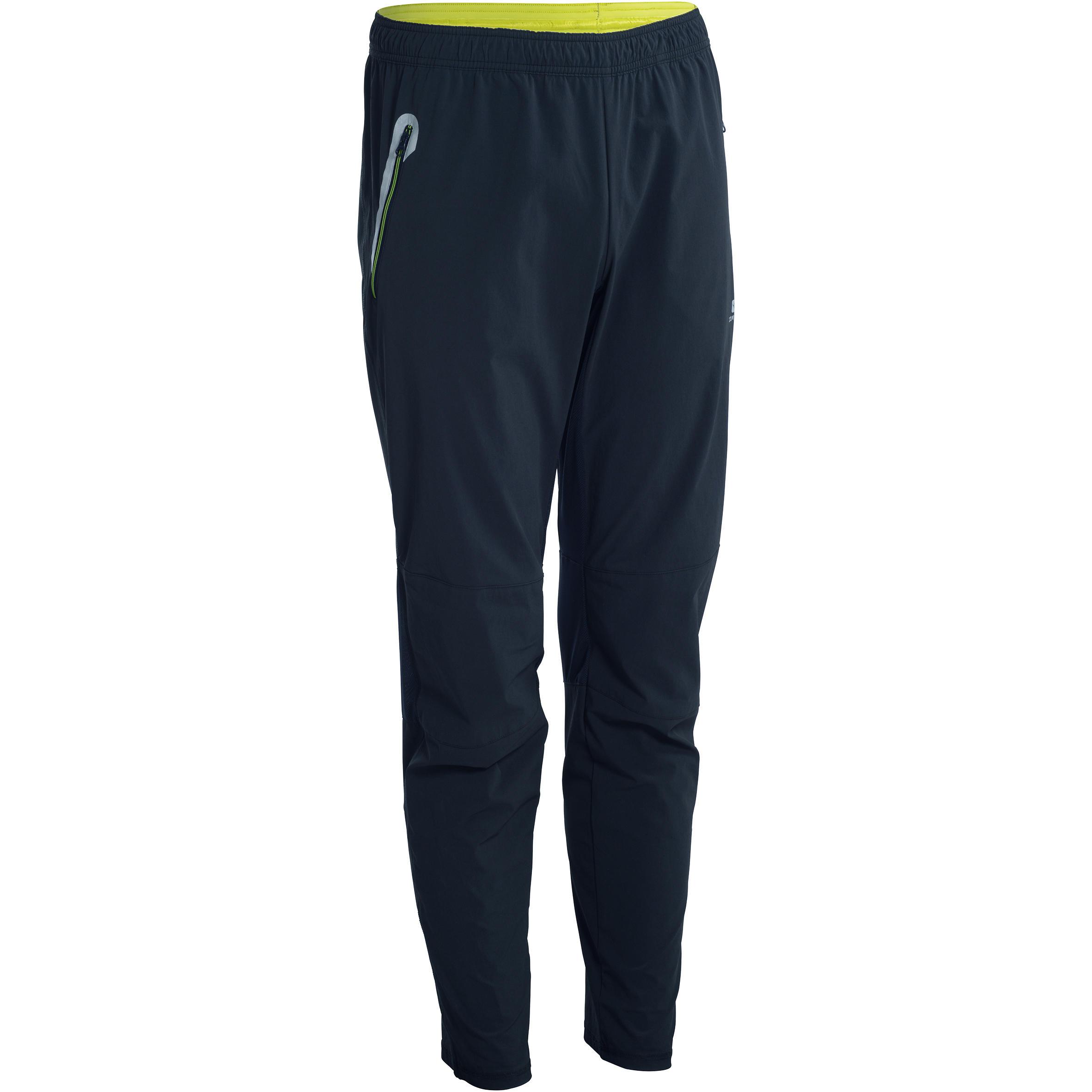 Pantalón fitness cardio hombre negro detalles amarillos ENERGY XTREM