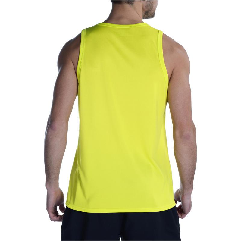 Débardeur fitness cardio homme jaune Energy
