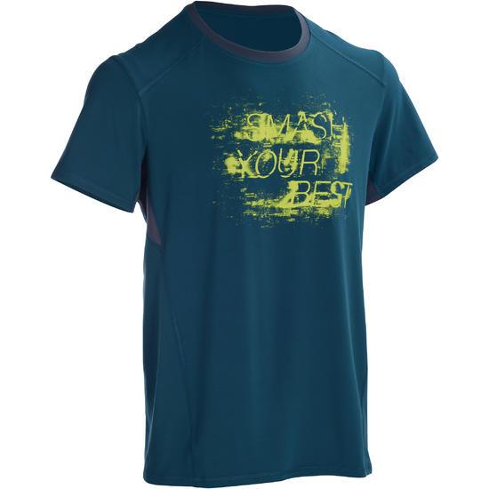 T-shirt fitness cardio heren geel met opdruk ENERGY - 1101424