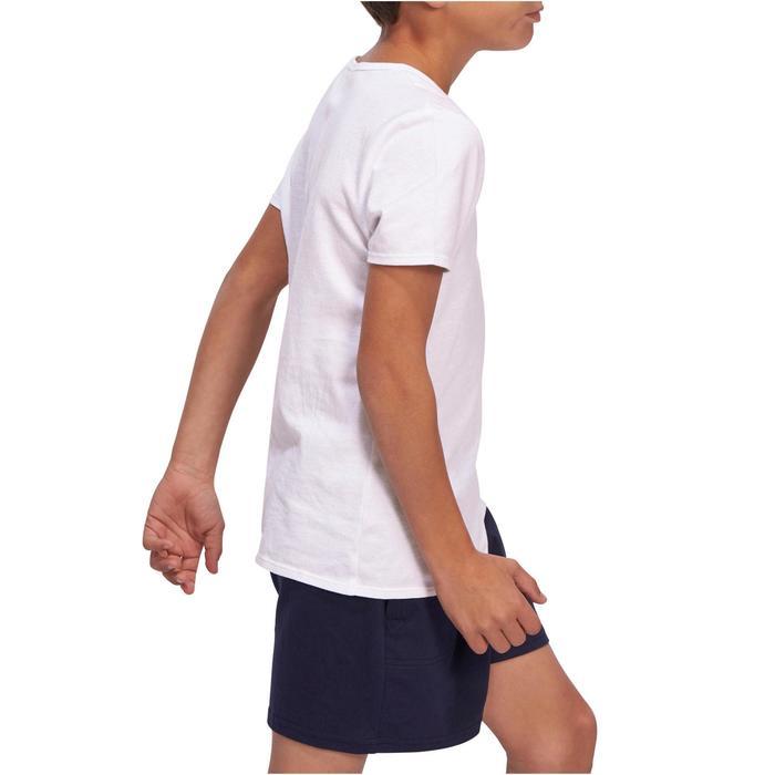 Gym T-shirt met korte mouwen 100 voor jongens wit