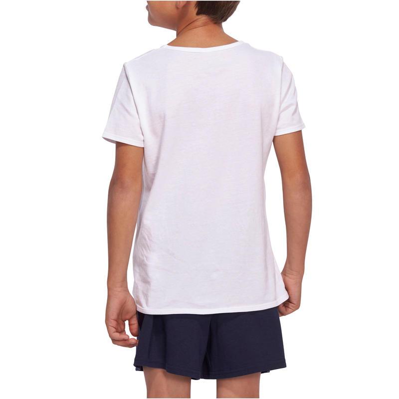 100 Boys' Short-Sleeved Gym T-Shirt - White