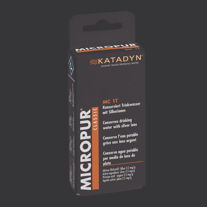 Comprimés conservateurs eau trekking randonnée bivouac Micropur Classic x50