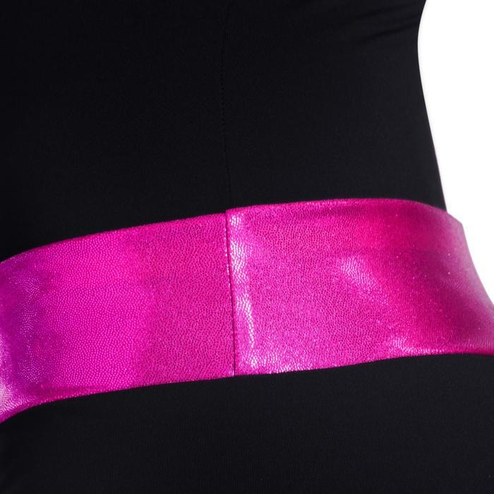 Shorty Gymnastique Féminine (GAF et GR) paillettes noir/turquoise. - 1101822