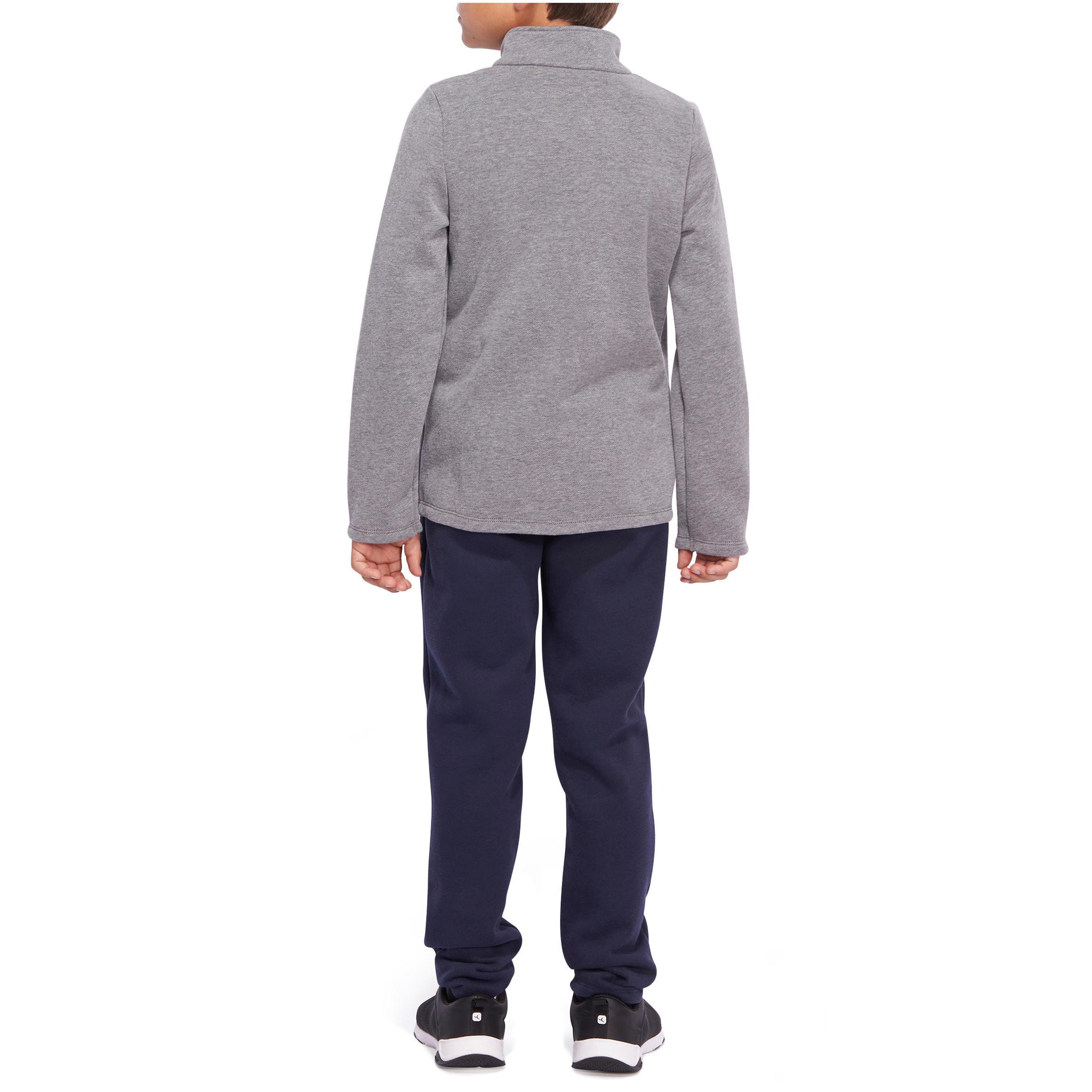 Warm'y Boys' Gym Warm Zip-Up Tracksuit - Grey Print