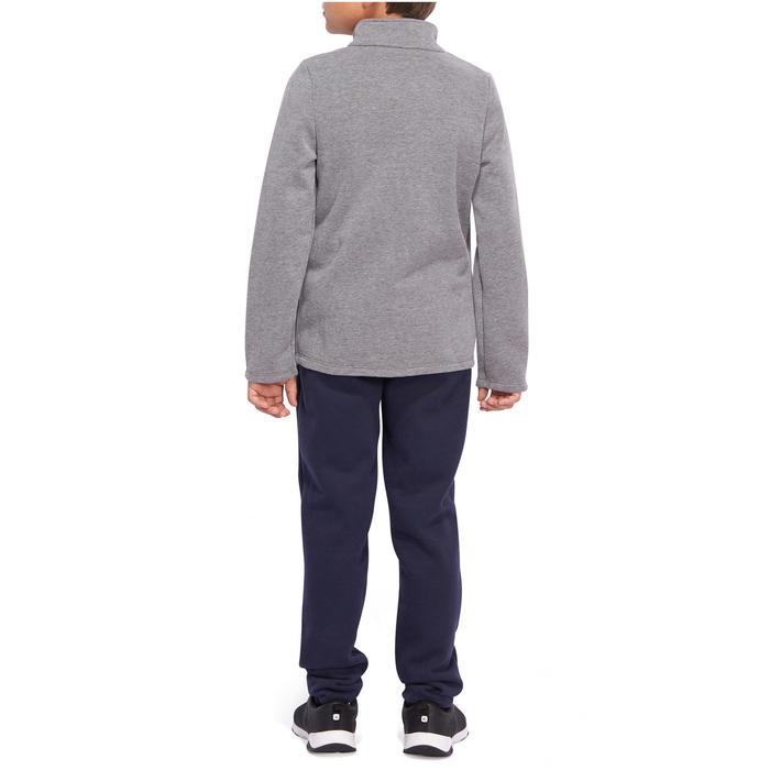 Chándal 120 gimnasia niño estampado gris Warm'y Zip