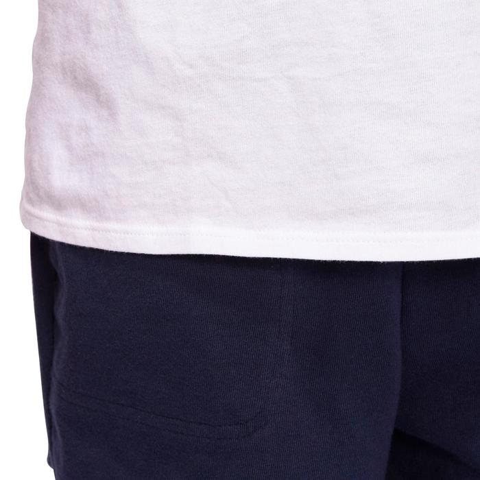 Camiseta manga corta 100 gimnasia niño blanco