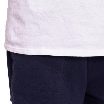 T-Shirt manches courtes 100 Gym garçon blanc