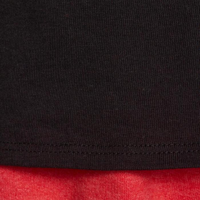 Camiseta manga corta 100 gimnasia niño negro