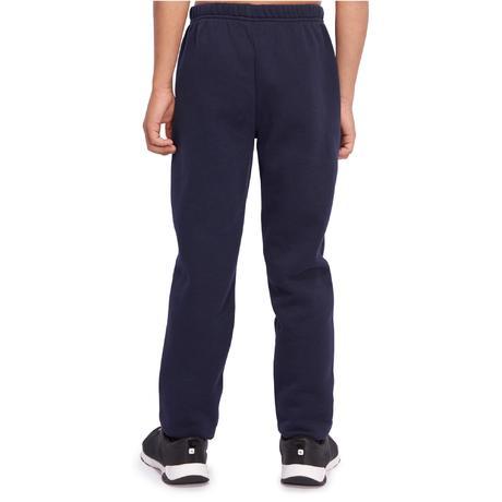 453f21acda Pantaloni bambino gym 100 warm'y blu   Domyos by Decathlon
