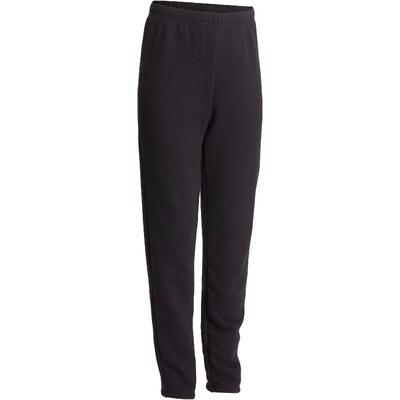 Pantalon de jogging, slim molleton chaud 100 garçon GYM ENFANT noir
