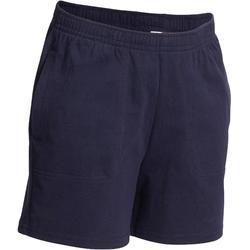 f750918c8ff Pantalón Corto Chándal Gimnasia Domyos Comfort Niño Azul marino