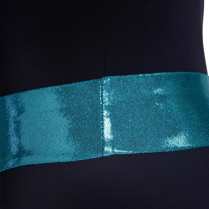 Shorty Gymnastique Féminine (GAF et GR) paillettes noir/turquoise. - 1101942