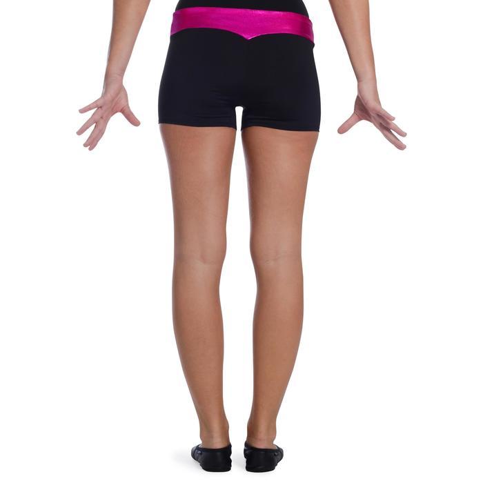 Shorty Gymnastique Féminine (GAF et GR) paillettes noir/turquoise. - 1101957