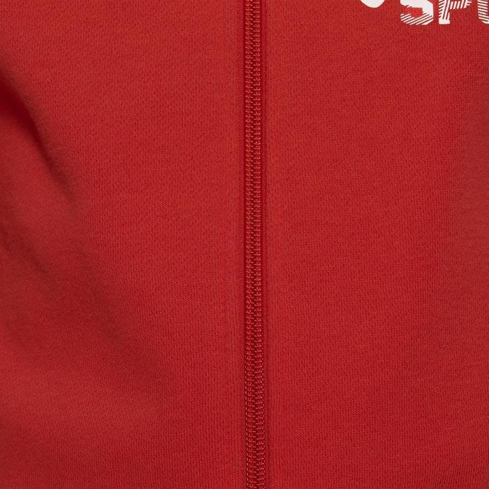 Chándal 120 gimnasia niño estampado rojo Warm'y Zip