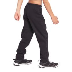 Pantalon slim molleton chaud 100 garçon GYM ENFANT noir