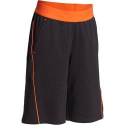 S900 Boys' Gym Shorts - Grey/Orange