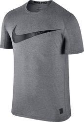 T-shirt fitness voor heren Nike Swoosh grijs