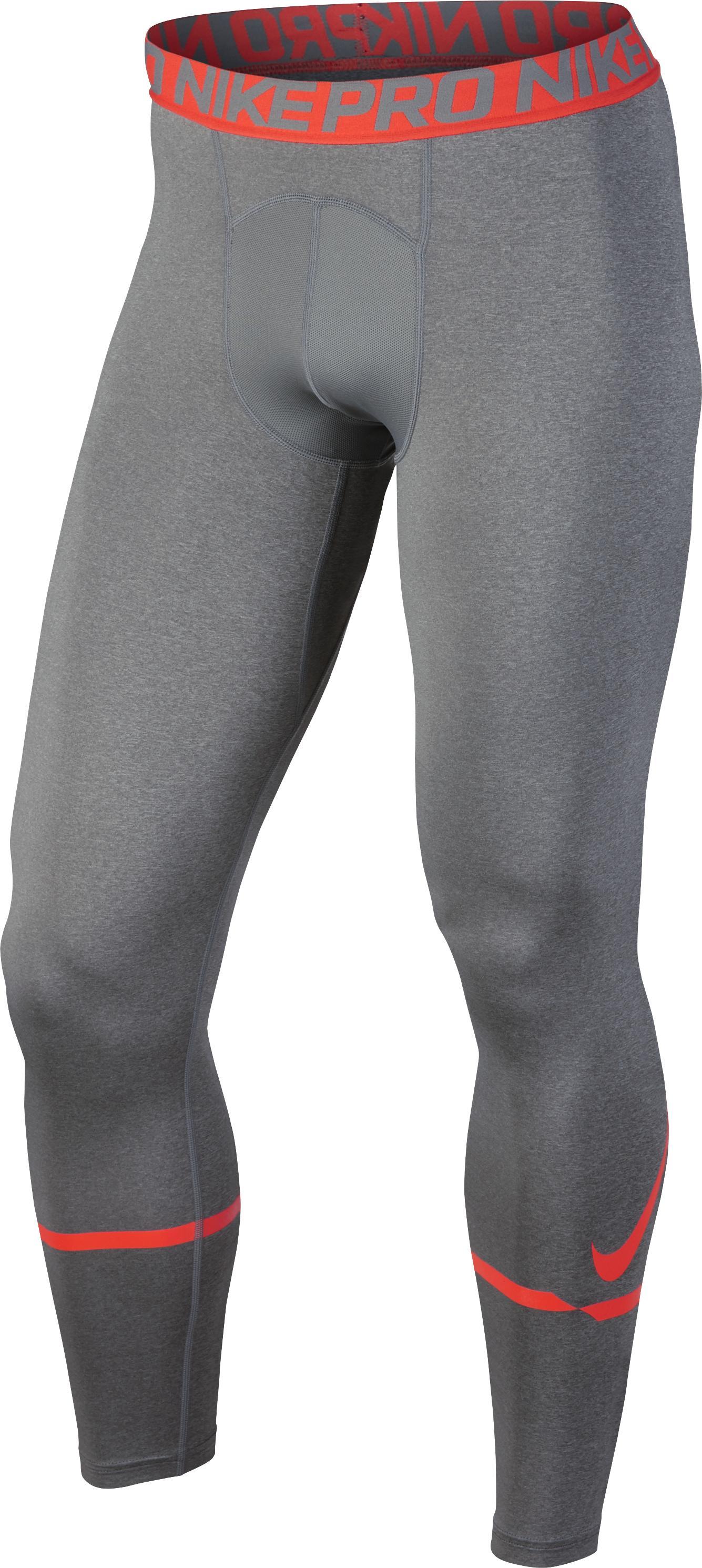 Nike Fitnesslegging voor heren grijs oranje