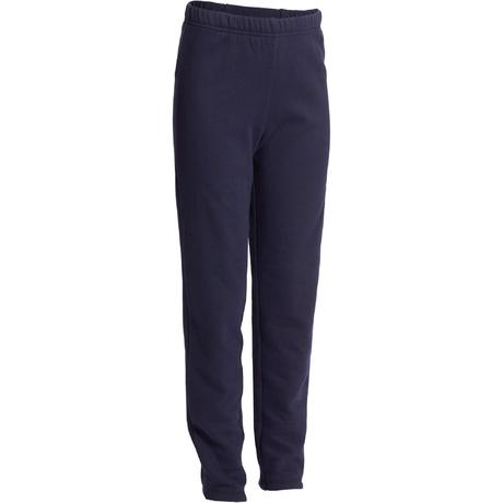 Warme Joggingbroek Dames.Molton Joggingbroek 100 Voor Gym Jongens Marineblauw Warm Y Domyos