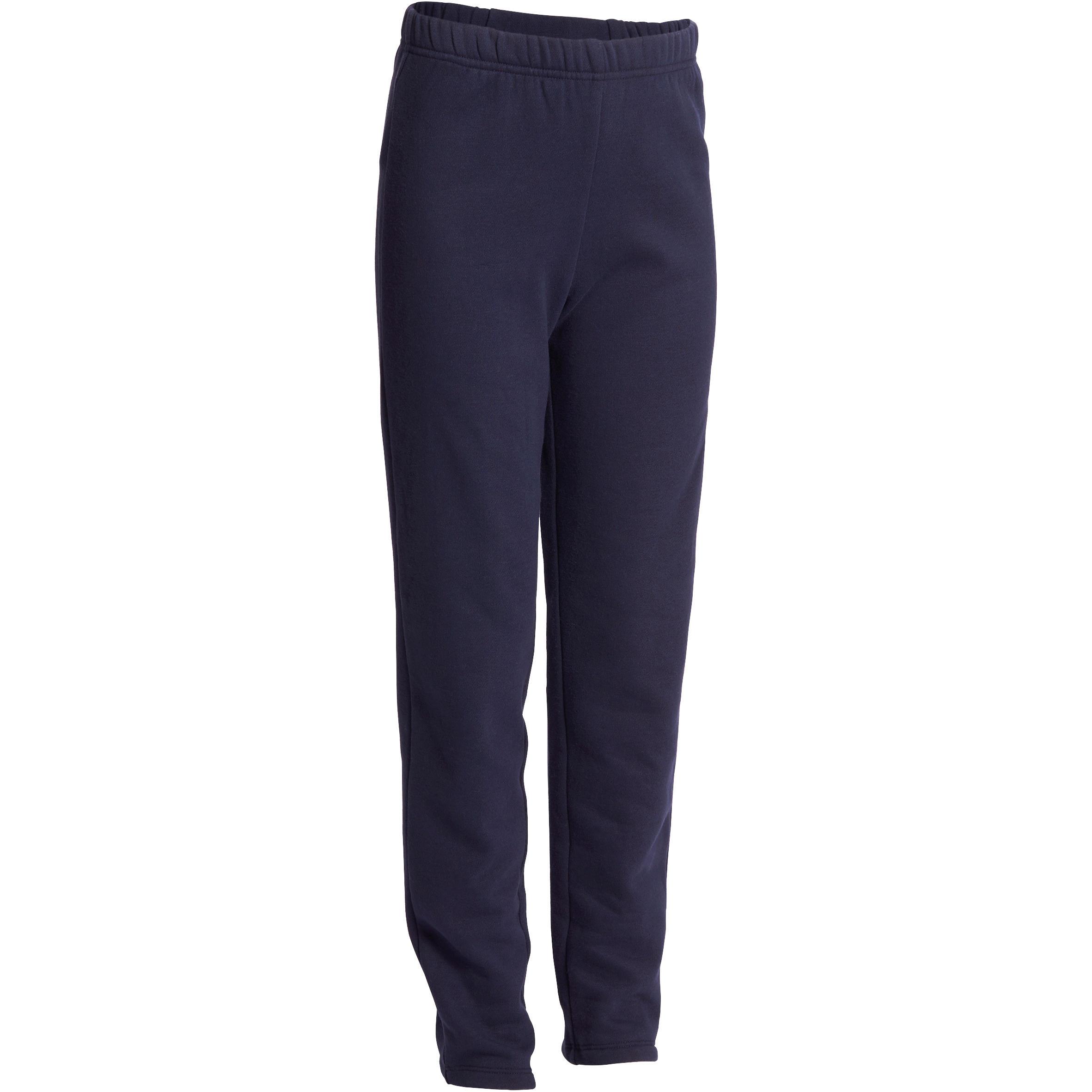 Pantalón cálido regular de gimnasia para niño azul marino Warm'y