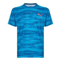 T-shirt fitness voor heren Puma blauw