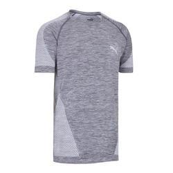 Fitness t-shirt voor heren evoknit grijs