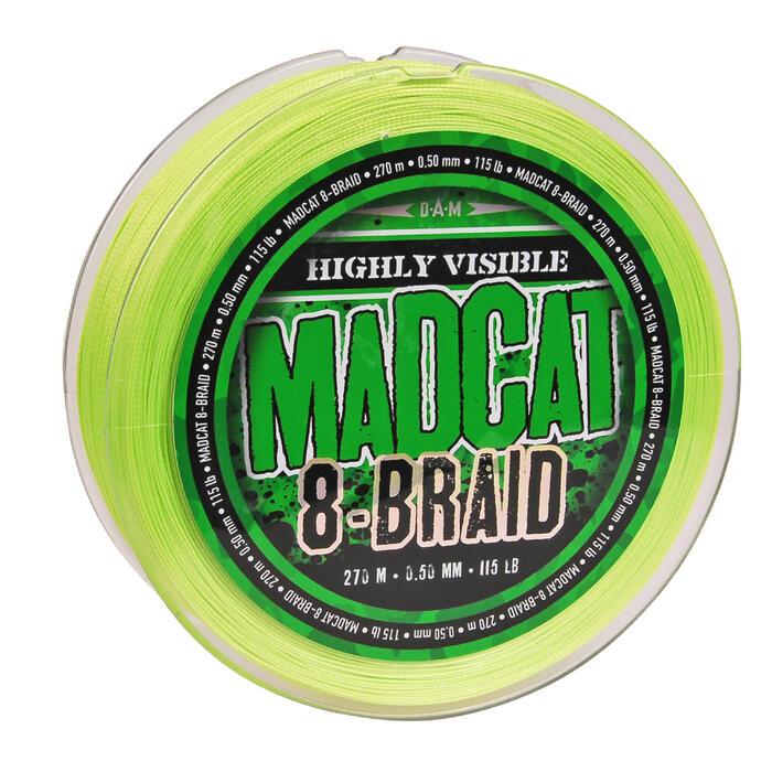 Hauptschnur geflochten Madcat 8-Braid 270 m 60/100