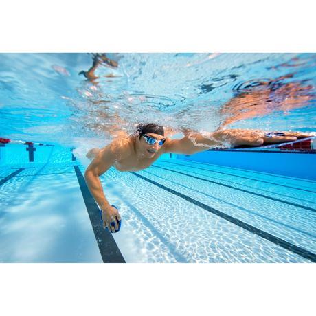 Spirit Swimming Goggles Size S Mirrored Black Blue Nabaiji