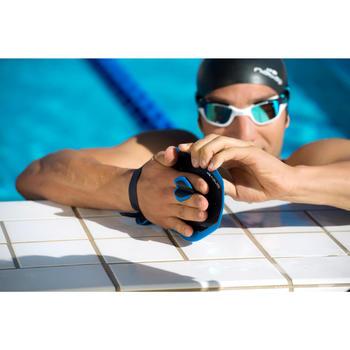 M號藍綠色游泳划手板QUICK'IN 500