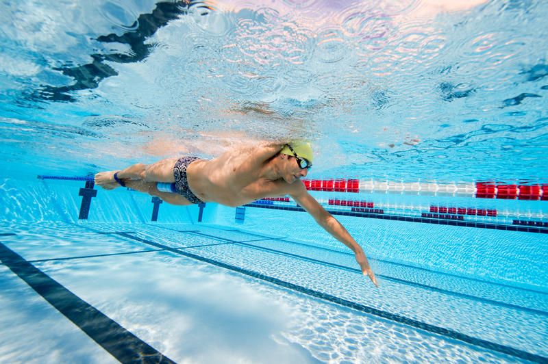 Swimming Pull Buoy - Blue Black