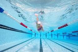 Peddel Fingerpaddle Quick'in voor zwemmen wit/blauw - 1102384
