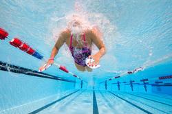 Peddel Fingerpaddle Quick'in voor zwemmen wit/blauw - 1102386