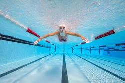 Peddel Fingerpaddle Quick'in voor zwemmen wit/blauw - 1102387