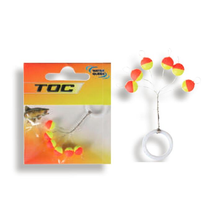 Dobber voor au toc forelvissen cilindrische lijngeleider 6 mm