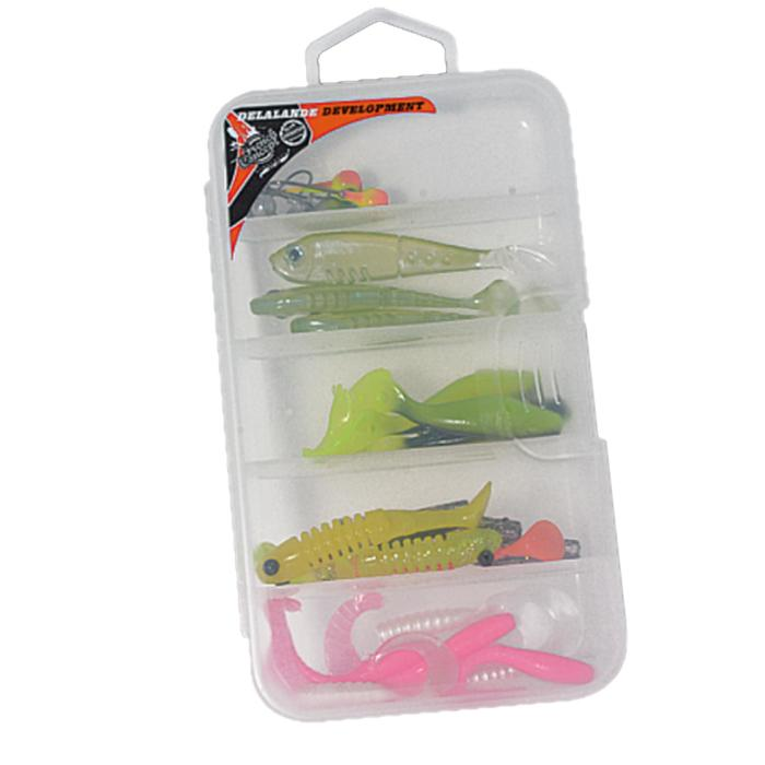 SEÑUELO FLEXIBLE PESCA CON SEÑUELOS KIT PERCA